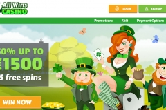 All Wins Casino Welcome Screen