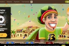 Bob Casino Welcome Screen