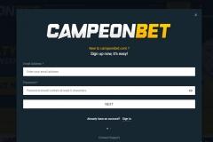CampeonBet Casino Registration
