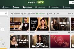 Campobet Casino Live Casino