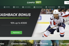Campobet Casino Home Screen