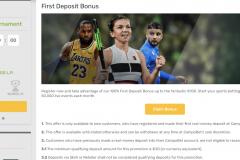 Campobet Casino First Deposit Bonus