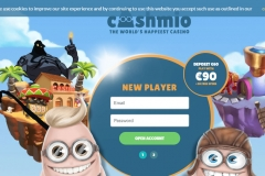 Cashmio Casino Welcome Screen
