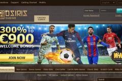 Osiris Casino Welcome Screen