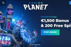 Casino Planet Welcome Screen