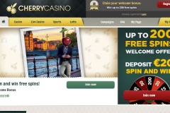 CherryCasino Welcome Screen