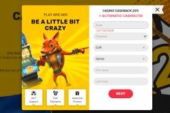 Crazy Fox Casino Registration