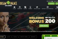 Dream Palace Casino Welcome Screen