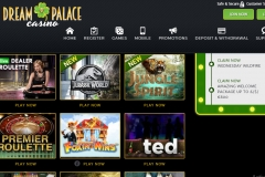 Dream Palace Casino Games