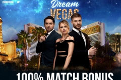 Dream Vegas Casino Welcome Screen