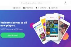 Dreamz Casino Welcome Screen