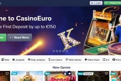 CasinoEuro Welcome Screen