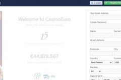 CasinoEuro Registration