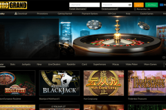 Eurogrand Casino Welcome Screen