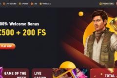 Fezbet Casino Welcome Screen