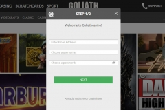 Goliath Casino Registration