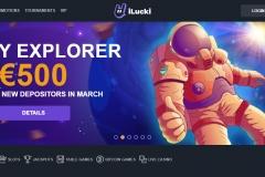 iLucki Casino Welcome Screen