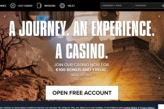 Kaboo Casino Welcome Screen