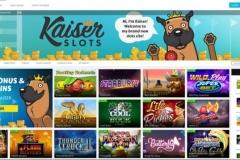 Kaiserslots Casino Welcome Screen