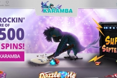 Karamba Casino Welcome Screen
