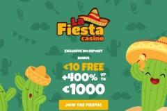 La Fiesta Casino Welcome Screen