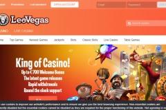 LeoVegas Casino Welcome Screen