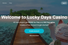 Lucky Days Casino WElcome Screen