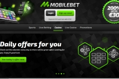 Mobilebet Casino Welcome Screen