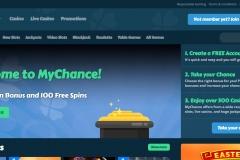 MyChance Casino Welcome Screen