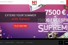 N1 Casino Welcome Screen