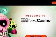 NextCasino Welcome Screen