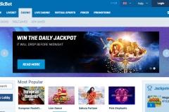 NordicBet Casino Welcome Screen
