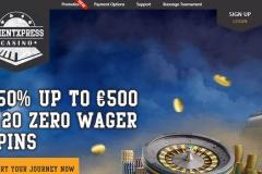 OrientXpress Casino Welcome Screen