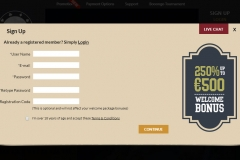 OrientXpress Casino Registration