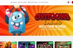 Ovitoons Casino  Main Screen
