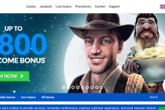 Quasar Casino Welcome Screen