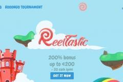 Reeltastic Casino Welcome Screen