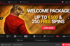 Royal Rabbit Casino Welcome Screen