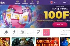Slotum Casino Welcome Screen