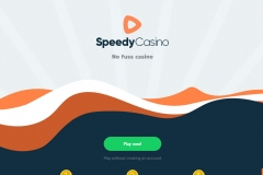 SpeedyCasino Welcome Screen