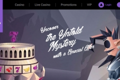 Untold Casino Welcome Screen