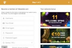 Videoslots Casino Registration