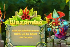 Wazamba Casino Welcome Screen