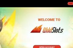 WildSlots Casino Welcome Screen
