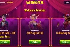 Winota Casino Bonuses