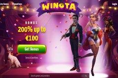 Winota Casino Home Screen