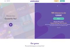 Wishmaker Casino Welcome Screen