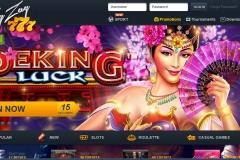 Zig Zag 777 Casino Welcome Screen