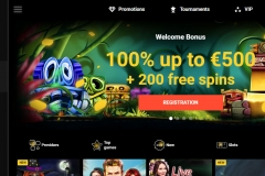 Zet Casino Welcome Screen