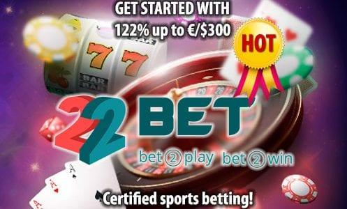 22 Bet Casino Welcome Bonus